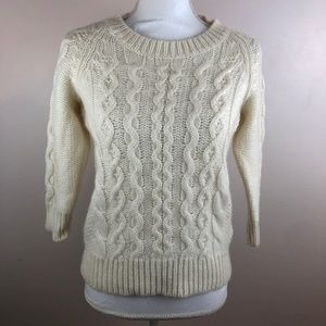 J. Crew Fisherman Sweater Soft Alpaca Wool Small